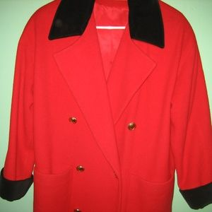 CHRISTIAN DIOR Red Winter Full Length Coat, Size 2